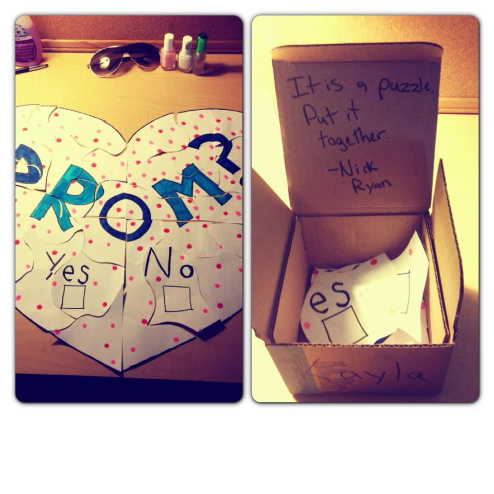 How to ask a girl to prom 2013