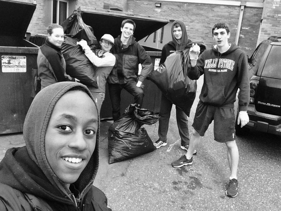 The proud Clean-Up Blaine crew at Roosevelt Middle School. (Photo courtesy of Babu Wanyeki.)